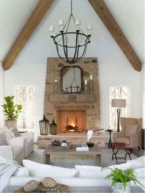 Cozy Fire Interior by Joanna Goodman