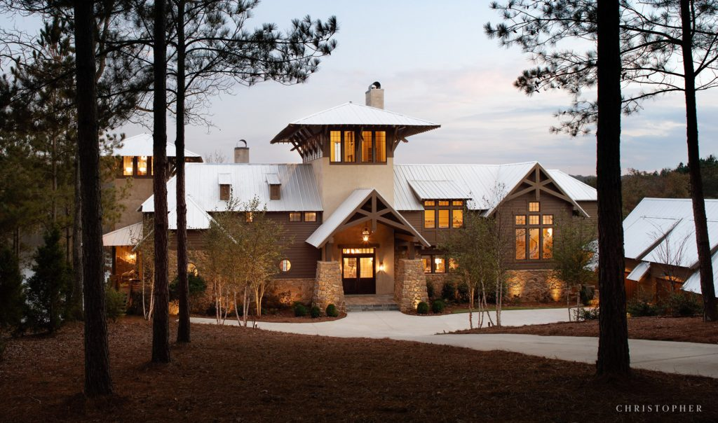 Light Filled Lakefront Retreat Exterior Approach
